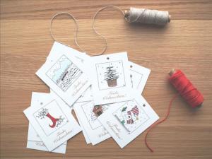 Herzenskunst Geschenkanhänger Weihnachten